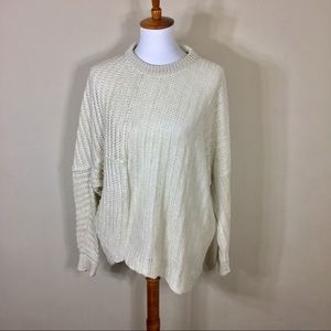 Stella McCartney Linen Cream Loose Knit Sweater